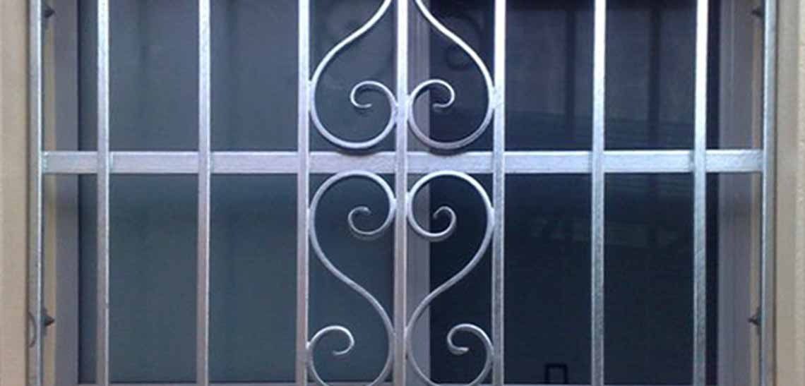 Photo of a custom-made window grille