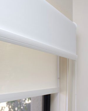 Double layer roller blinds