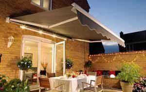 Photo of Folding Arm Awning over an outdoor entertaining space