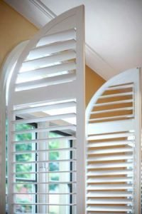 Arched casement shutters