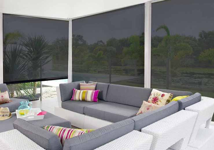 Photo of Side Channel Awnings around an outdoor entertaining area