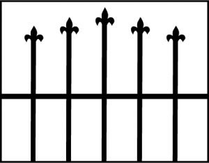 Fleur-de-Lys window grille design drawing