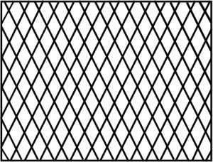 Cross-hatch window grille design drawing
